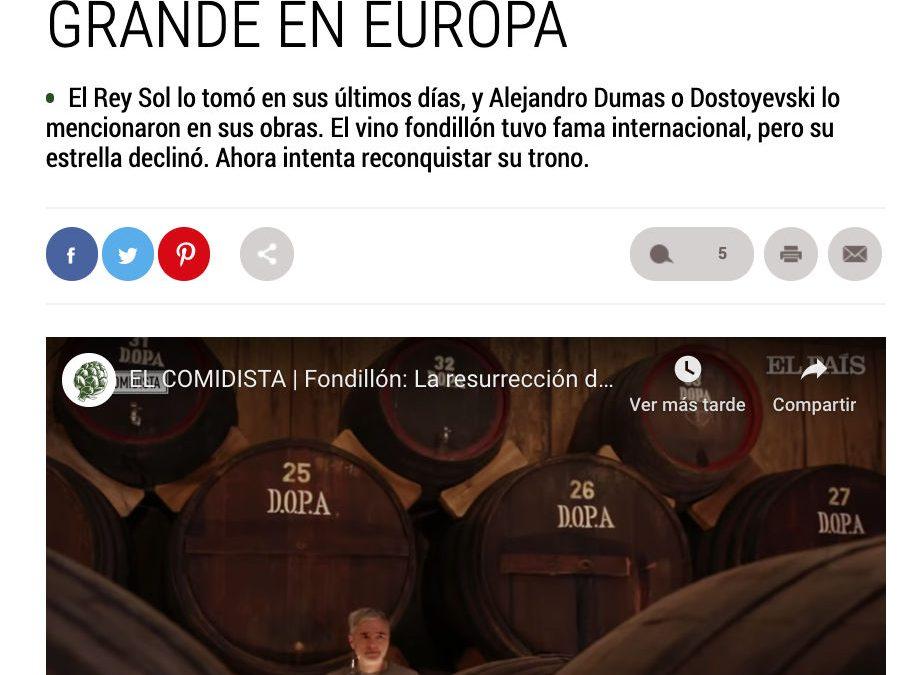 El Fondillón en El País con un Vídeo